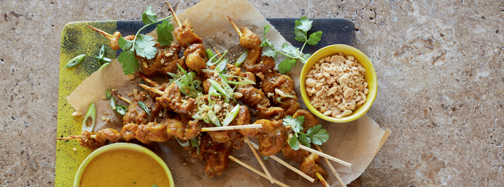 Chicken-Style Skewers with Peanut Satay