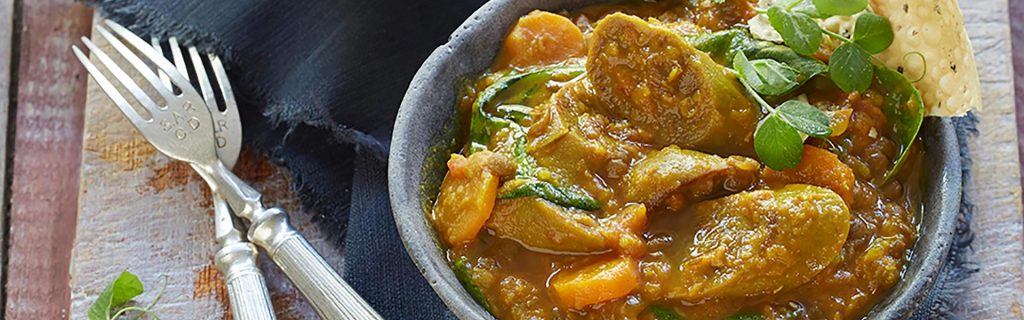 Spicy Lentil Curry with Sausage